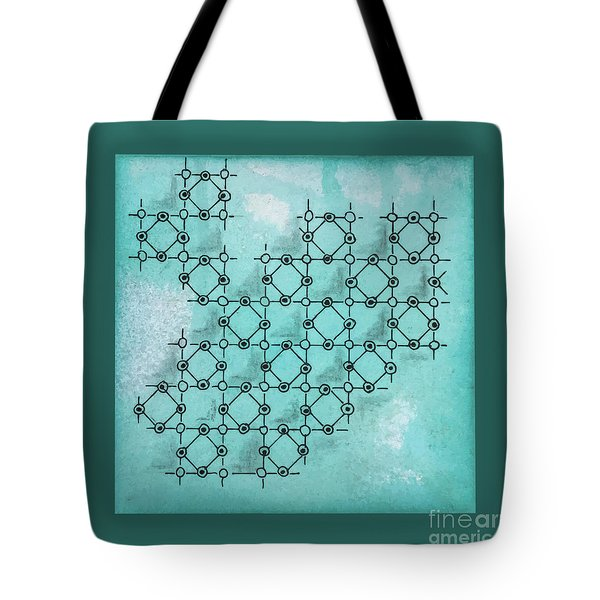 Tote Bag featuring the drawing Abstract Biological Illustration by Ariadna De Raadt