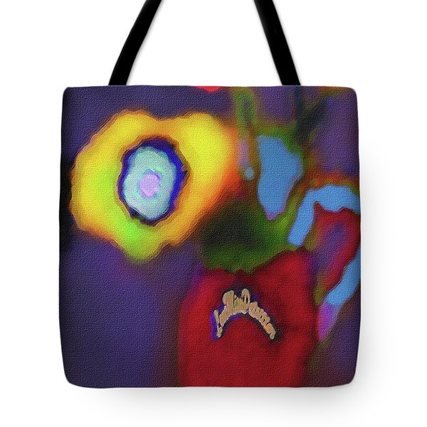 Abstract Floral Art 367 Tote Bag