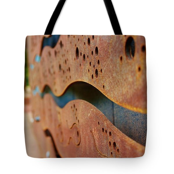 1 Abstract Lake Patricia Sign 2 Tote Bag