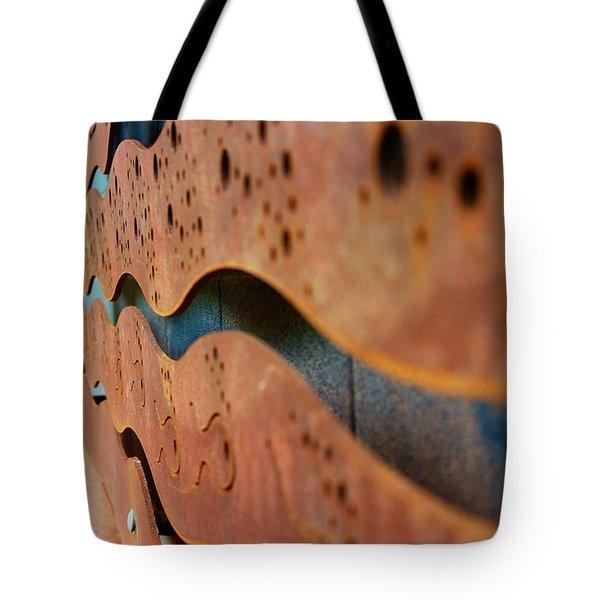 1 Abstract Lake Patricia Sign 3 Tote Bag