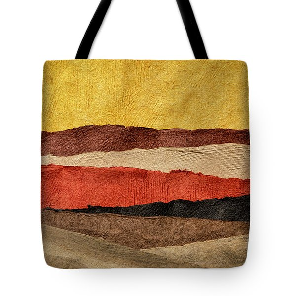 Abstract Landscape In Earth Tones Tote Bag