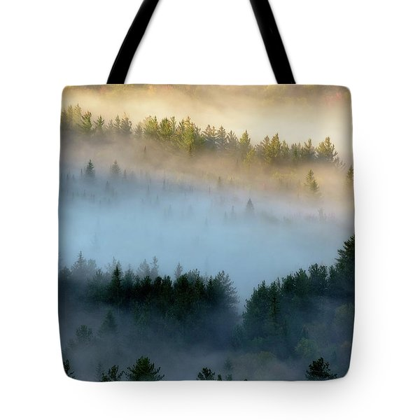 Tote Bag featuring the photograph Adirondack Fog by Brad Wenskoski
