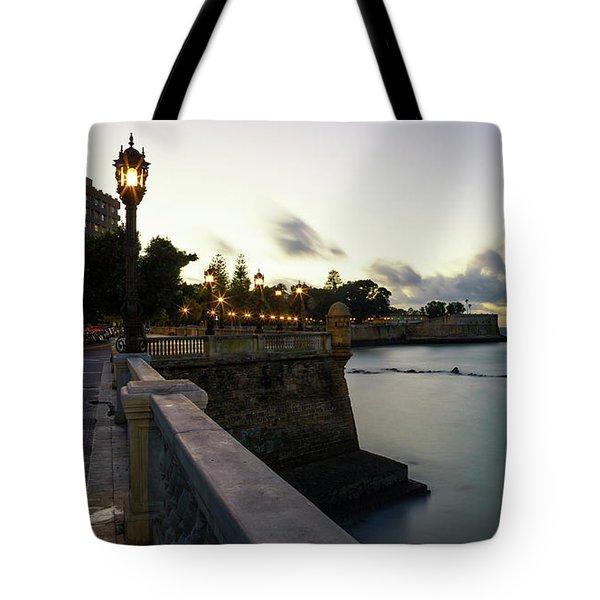 Tote Bag featuring the photograph Alameda Apodaca Promenade Cadiz Spain by Pablo Avanzini