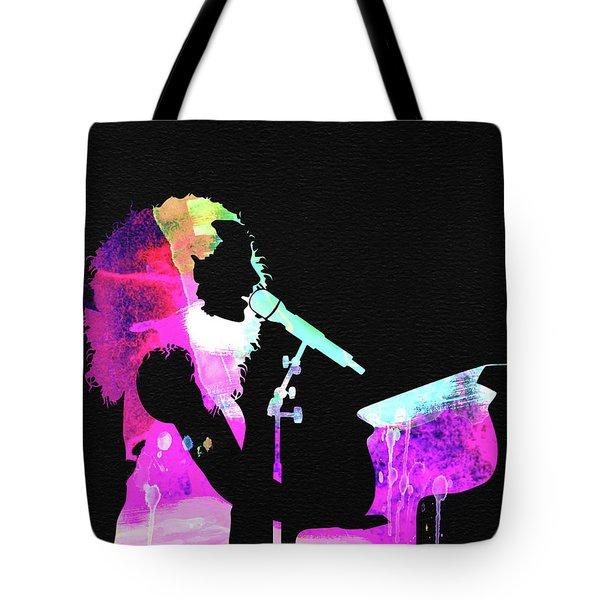 Alicia Keys Watercolor Tote Bag