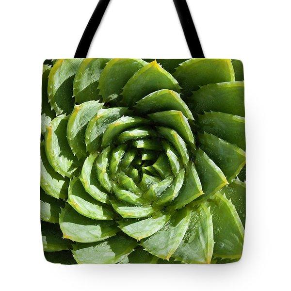 Aloe_polyphylla_8536.psd Tote Bag