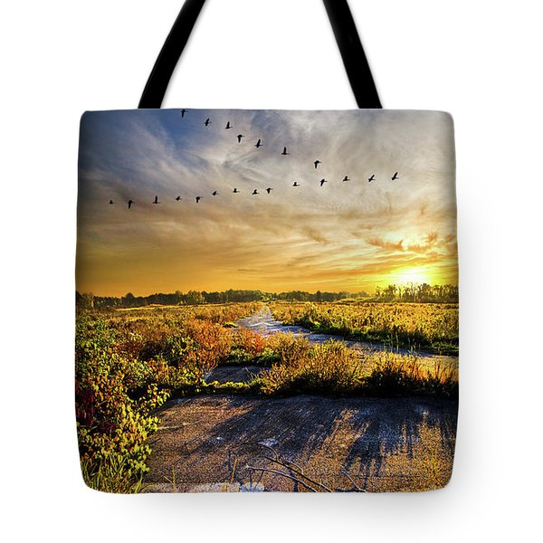 Tote Bag featuring the photograph An Old Road by Phil Koch