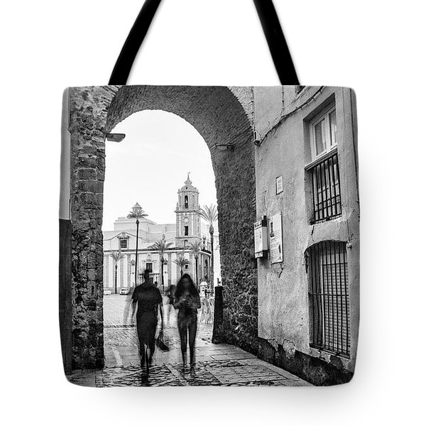 Tote Bag featuring the photograph Arch Of The Rose Cadiz Spain by Pablo Avanzini