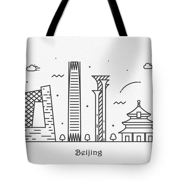 Barcelona Cityscape Travel Poster Tote Bag