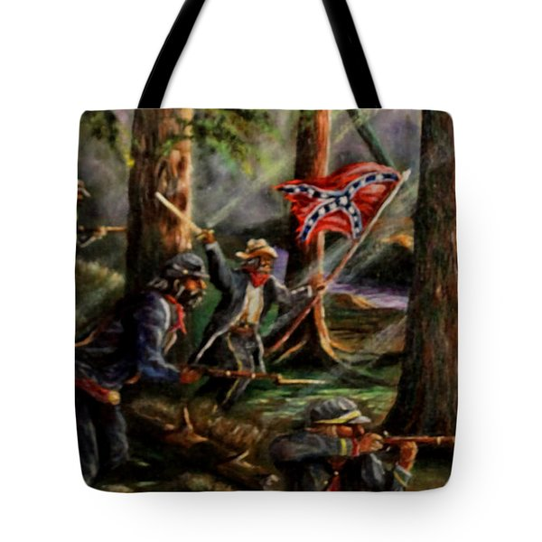 Battle Of Chancellorsville - The Wilderness Tote Bag