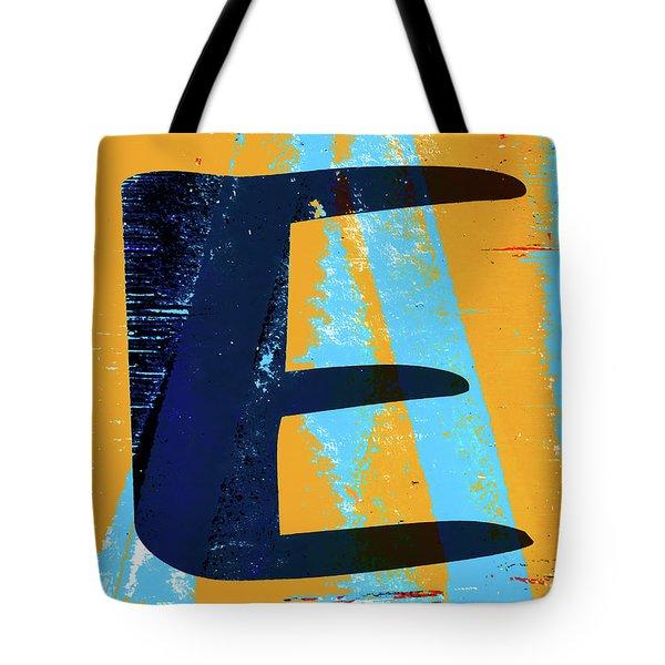Big Letter E  Tote Bag