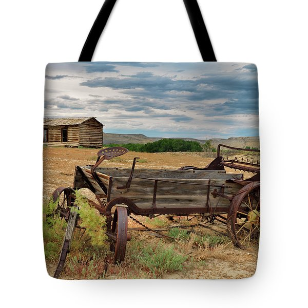 Tote Bag featuring the photograph Bighorn Basin History by Leland D Howard
