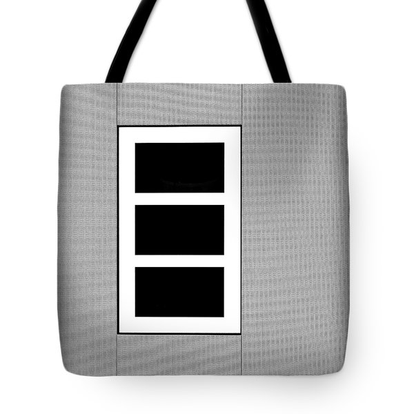 Black Tryptic Tote Bag