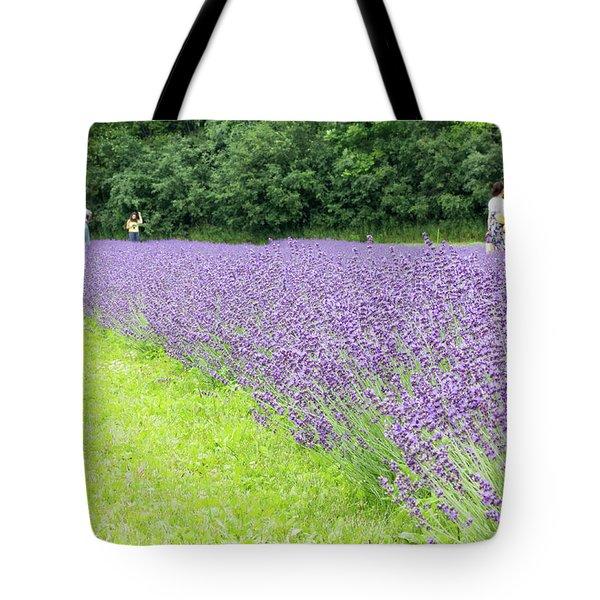 Blue Lavender Tote Bag