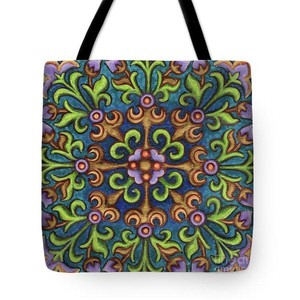 Botanical Mandala 8 Tote Bag