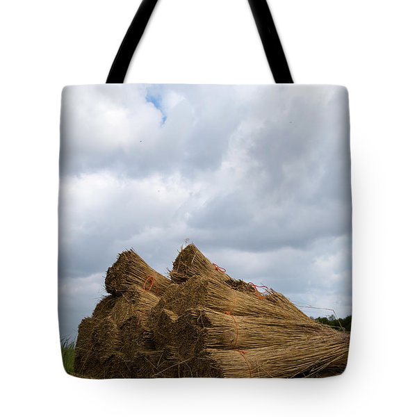 Tote Bag featuring the photograph Bound Reeds  by Anjo Ten Kate