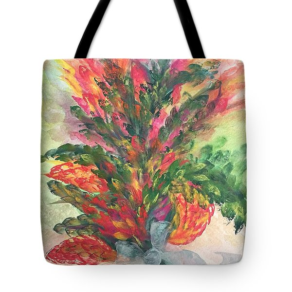 Bouquet And Ribbon Tote Bag