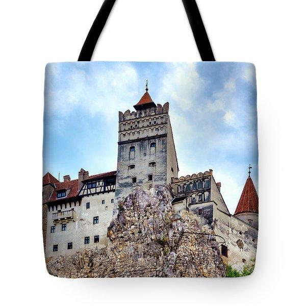 Tote Bag featuring the photograph Bran Castle by Fabrizio Troiani