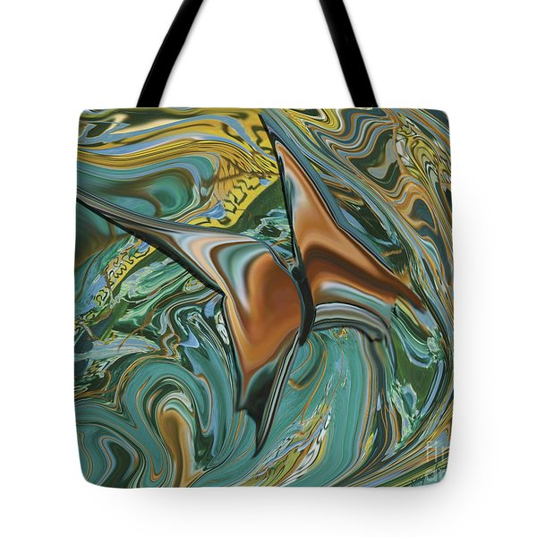 Bronze Butterfly Tote Bag