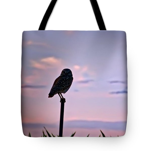 Burrowing Owl On A Stick Tote Bag
