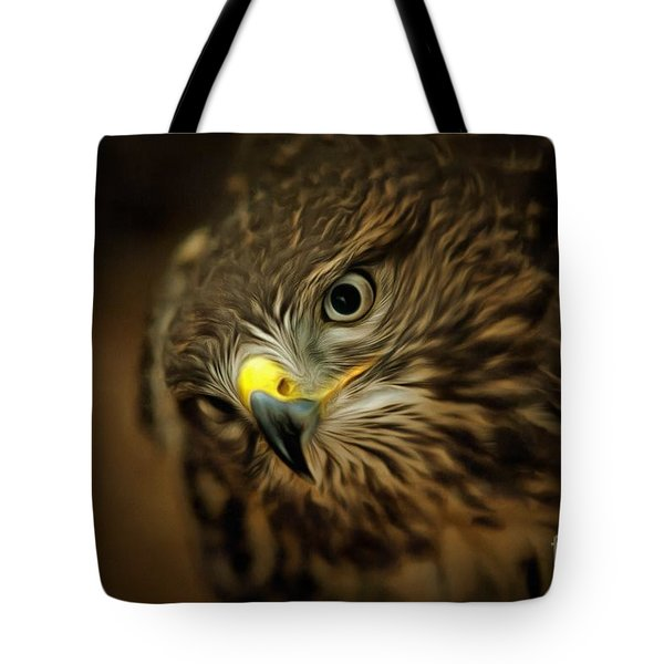 Buzzard - Detail Of The Head Tote Bag