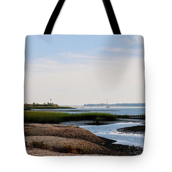 Castle Pinckney, Charleston Harbor Tote Bag