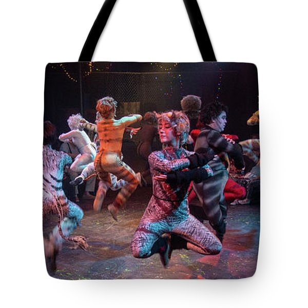Cats In The Air Tote Bag