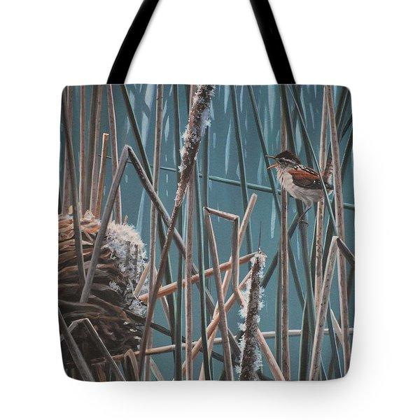 Cattail Hideaway Tote Bag