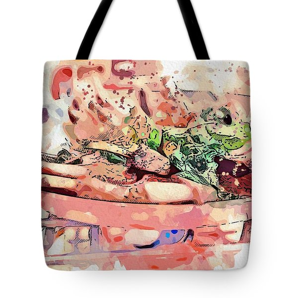 Chop Steak -  Watercolor By Ahmet Asar Tote Bag