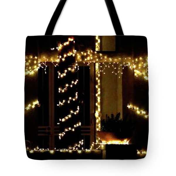 Tote Bag featuring the photograph Christmas Lights 2 12753 by Jerry Sodorff