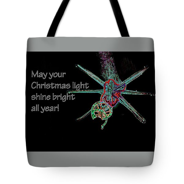Tote Bag featuring the photograph Christmas Star Light 26762 Ge by Jerry Sodorff