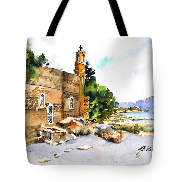 Church Of Primacy, Galilee Tote Bag