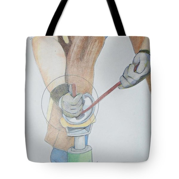 Clipping Hooves Tote Bag