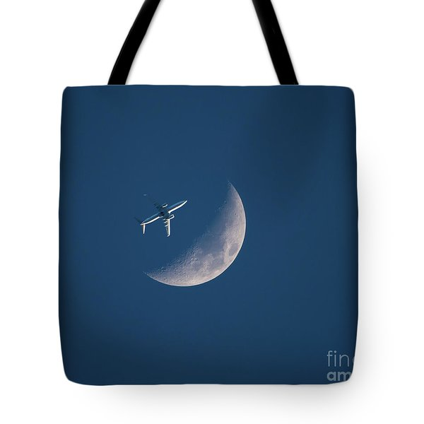 Close Encounter Of The Lunar Kind Tote Bag