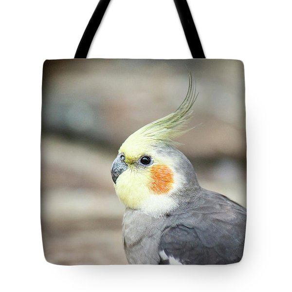 Tote Bag featuring the photograph Close Up Of A Cockatiel by Rob D Imagery