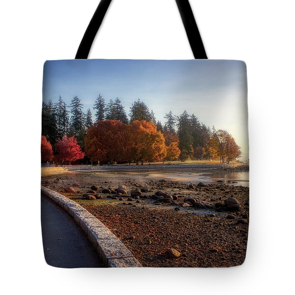 Colorful Autumn Foliage At Stanley Park Tote Bag