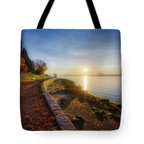 Colorful Autumn Sunrise At Stanley Park Tote Bag