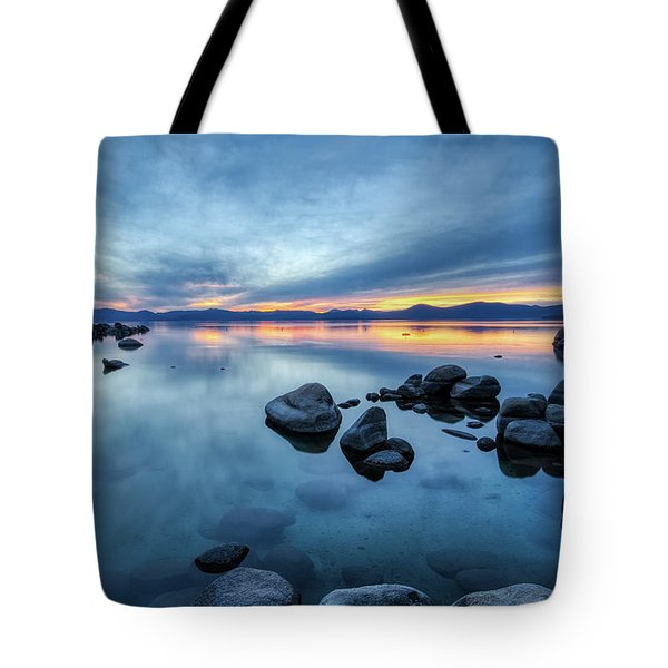 Colorful Sunset At Sand Harbor Tote Bag