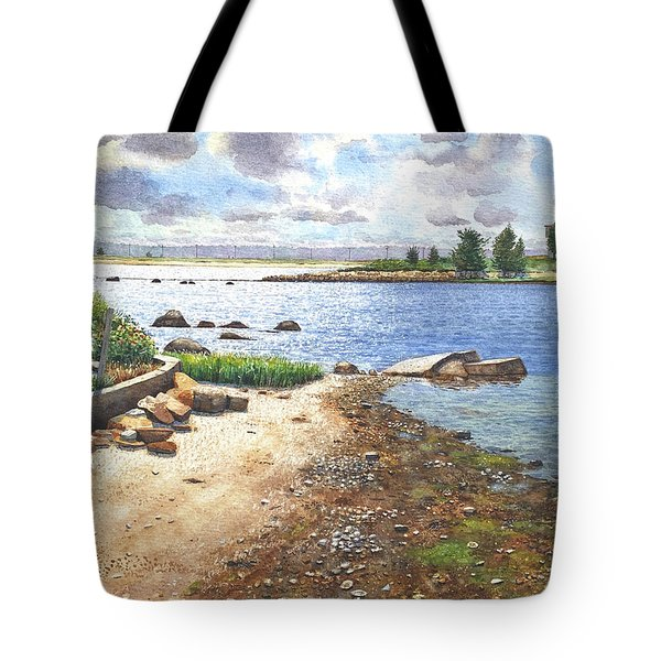Crab Rock, Low Tide Tote Bag
