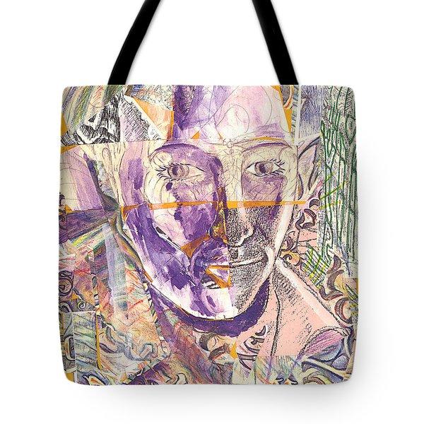 Cut Portrait Tote Bag