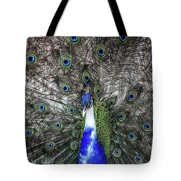 Dancing Peacock Tote Bag