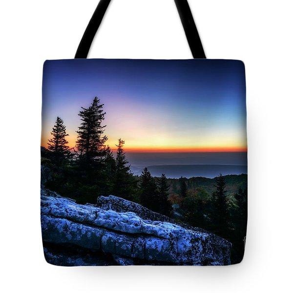 Dawn At Bear Rocks Preserve Tote Bag