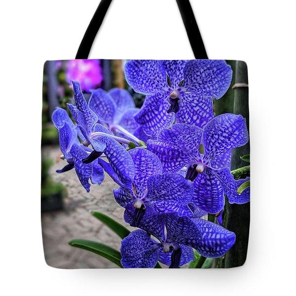 Deep Purple Orchid Tote Bag