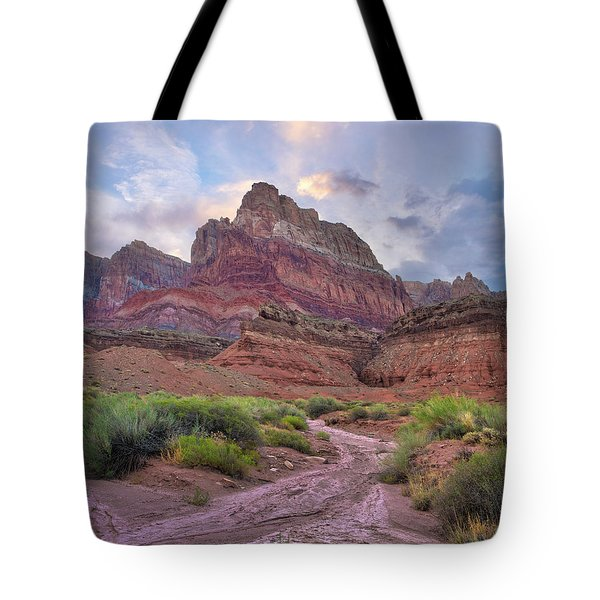 Desert And Cliffs, Vermilion Cliffs  Tote Bag