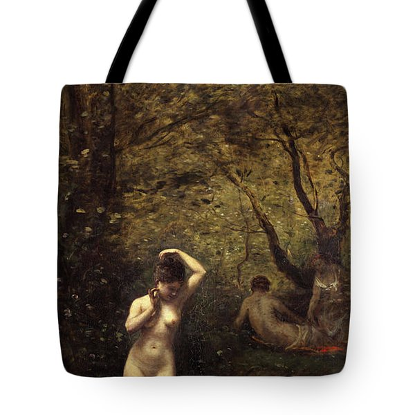 Diana Bathing, The Fountain Tote Bag