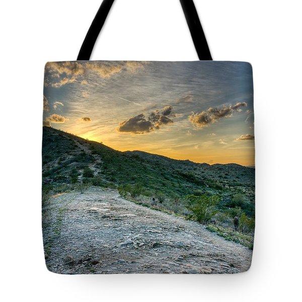 Dramatic Mountain Sunset  Tote Bag