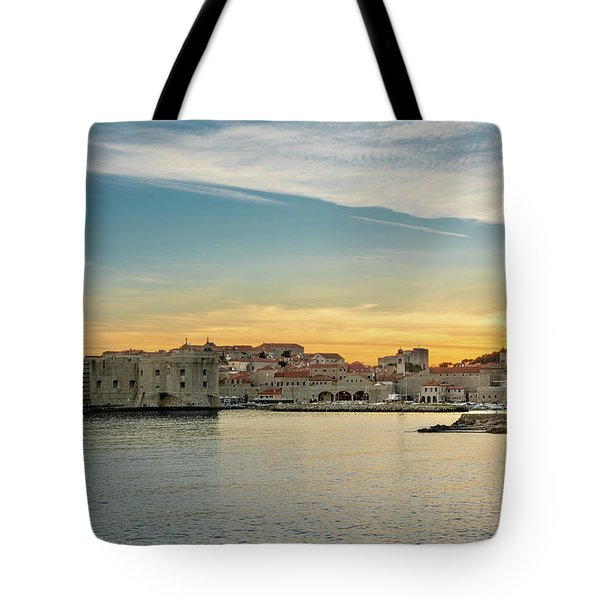 Dubrovnik Old Town At Sunset Tote Bag
