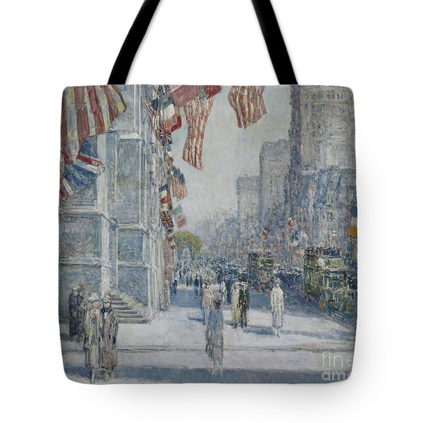 Early Morning On The Avenue In May 1917 Tote Bag