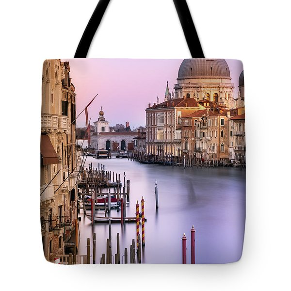 Evening Light In Venice Tote Bag