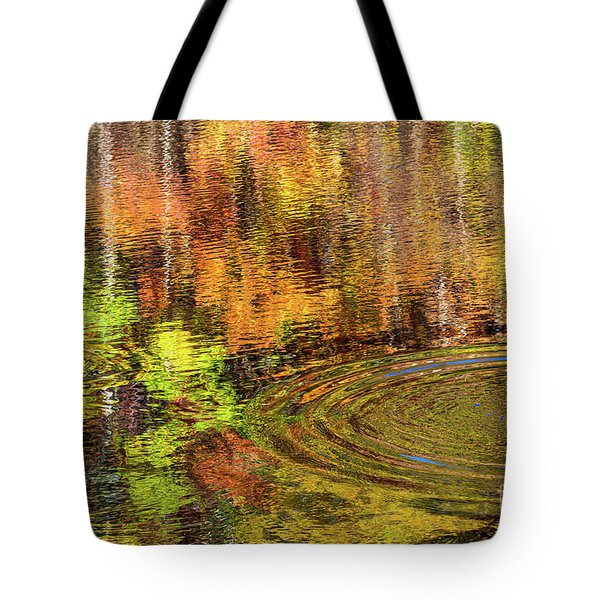 Tote Bag featuring the photograph Fall Reflections by Bernd Laeschke