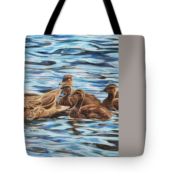 Tote Bag featuring the painting Mallards by Tammy Taylor